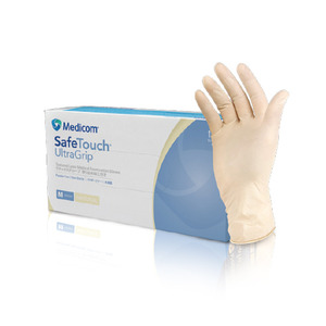 ULTRAGRIP LATEX PF GLOVES (100ea)